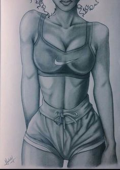 Image via We Heart It #abs #art #body #drawing #fit #girls #workout
