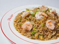 Philippe's take on shrimp fried rice. Shrimp Fried Rice, Upscale Restaurants, Fries, Ethnic Recipes, Food, Hoods, Meals