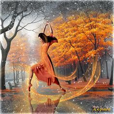 The last dance of autumn - fantasy art by Giada Rossi Digital Art by Giada Rossi Fantasy Kunst, Fantasy Art, Autumn Art, Dance Art, Leaf Art, Sale Poster, Art Google, Art For Sale, Creative Art