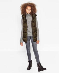 HOODED GILET-View all-OUTERWEAR-WOMAN | ZARA United States