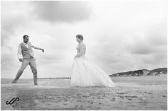 Why not make photos after your wedding. Do a little trash the dress in the ocean? These weddingpictures are made on the beach on Ameland. Make Photo, Around The Worlds, Ocean, Wedding Dresses, Beach, Photos, Seeds, Bride Gowns, Wedding Gowns
