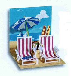 And Another Beach Scene . . .: Pop-Up Cards                                                                                                                                                                                 More