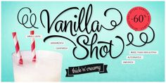 Vanilla Shot is a smooth script family with two weights and an ornament set. Vanilla Shot has it's roots in commercial American sign painting of the and Shot has more than 1000 glyphs per cut to help you create custom-looking headli… Design Typography, Typography Fonts, Script Fonts, Business Brochure, Business Card Logo, Block Lettering, Hand Lettering, Creative Lettering, Texture Web