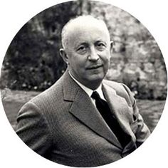 Christian Dior, 1905-1957  A top French fashion designer, founder of the well known Dior fashion house, and inventor of the 1947 'New Look': The signature shape was characterized by a below-mid-calf length, full-skirt, large bust (which had fallen from style in 1912), and small waist. In refutation to the post-war fabric restriction, Dior used twenty yards of extravagant fabrics in his creations