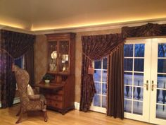 Use dual fabrics on your window treatments for a truly custom design