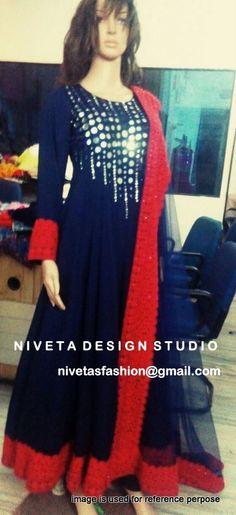 Anarkali Suit For WEdding  @nivetas  Query  Whatsapp:-  +917696747289  E-mail:- nivetasfashion@gmail.com