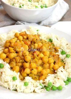 Indické cizrnové kari s voňavým kořením a kosovým mlékem Healthy Meals For Two, Good Healthy Recipes, Unique Recipes, Great Recipes, Ethnic Recipes, Lunch Recipes, Easy Recipes, Cooking For One, Easy Cooking