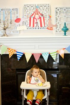Ideas for how to decorate your little one's high chair for their first birthday - #firstbirthday