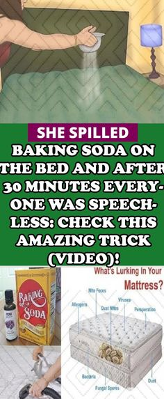 She Spilled Baking Soda on the Bed, and After 30 Minutes They All Remain Speechless! When You See Why, You will Do the Same (VIDEO) - Holistic Living Media Health And Fitness Articles, Daily Health Tips, Health And Wellness, Health Fitness, Yoga Fitness, Health Care, Holistic Wellness, Women's Health, Fitness Diet