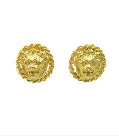 Classic Lion Head Earrings