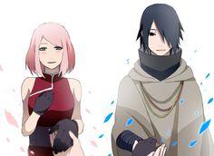 Tags: Fanart, NARUTO, Haruno Sakura, Uchiha Sasuke, Pixiv, Fanart From Pixiv, Pixiv Id 1568601, Naruto The Movie: The Last