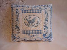 sweet bird cross stitch pillow