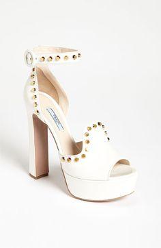 Prada Platform Studded Sandal available at #Nordstrom