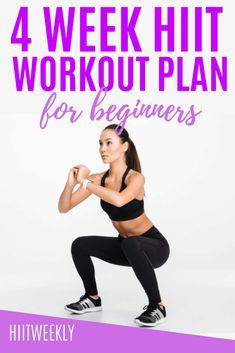 Hiit Leg Workout, 4 Week Workout Plan, Hiit Workouts For Men, Hiit Workout At Home, Weekly Workout Plans, Fitness Workouts, Fitness Logo, Cardio Hiit, Squats Fitness