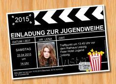 Einladung Einladungskarten Jugendweihe MUSTER 28 - Bild vergrößern
