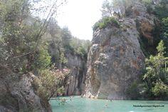 Precioso rincón del río Mijares en Montanejos (Castellón)