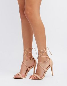 Lace-Up Dress Sandals: Charlotte Russe