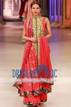 Spell Pink Daytona, Product code: DR9600, by www.dressrepublic.com - Keywords: Top Pakistani Fashion Designers Dresses 2012, Latest Pakistani Frock Styles, Long Pakistani Dresses