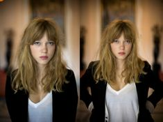 Lea Seydoux. hair!