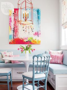 Colorful kitchen nook