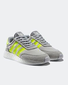 adidas Originals Iniki: Grey/Volt