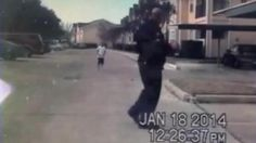 "A dash cam video shows a police officer playing catch with a boy.  The officer was on patrol when he spotted the young boy playing all alone, so he stopped and played with him for several minutes.  The police department tweeted the clip out with the following message: ""While a two minute game of football might not meaning anything to some, it could mean everything!"""