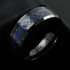 Celtic Tungsten Ring Black Tungsten Ring Celtic by TemptingJewels