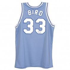 Larry Bird Autographed Indiana St. Sycamores Majestic Jersey