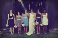 Bridesmaid's Flower Ribbon Belts