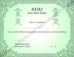 Reiki Certificate Templates Download Feel free to explore ...