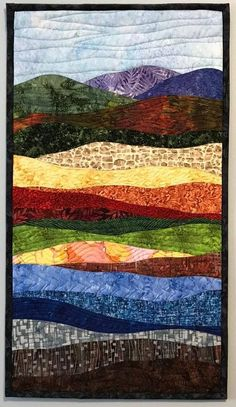 Art Quilts Abstract Colorful Landscape 10 Landscape Quilt