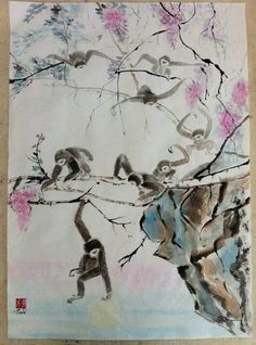 After Chen Wen Hsi Monkeys fetching the moon Susan Marie
