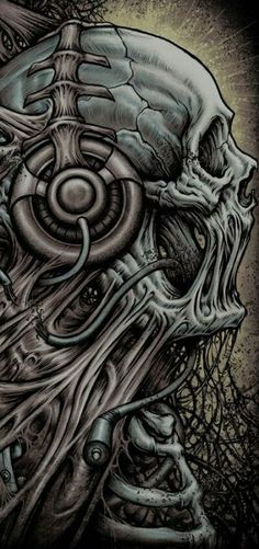 """""""As I write this entry, I touch a saber-tooth tiger skull in my office. Without stars there could be no skulls. Skull Tattoos, Body Art Tattoos, Biomech Tattoo, Yakuza Tattoo, Arte Cholo, Totenkopf Tattoos, Skull Illustration, Skull Artwork, Tatoo Art"""