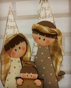 Nativity Crafts, Christmas Crafts For Gifts, Christmas Nativity, Kids Christmas, Christmas Decorations, Christmas Ornaments, Christmas Card Pictures, Country Christmas, Doll Crafts
