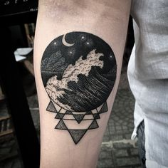 45 Crescent and Full Moon Tattoo designs  - Up in the Sky