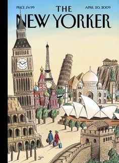 "The New Yorker - Monday, April 20, 2009 - Issue # 4306 - Vol. 85 - N° 10 - « Journeys » - Cover ""Ultimate Destination"" by ""Loustal"" - Jacques de Loustal"