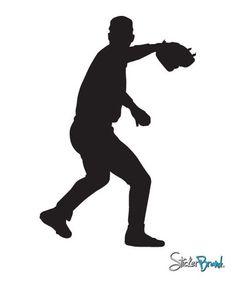 Vinyl Wall Decal Sticker Baseball Pitcher #558