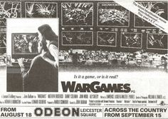 Original Half Page Advert Wargames Matthew Broderick Ally Sheedy ( 1982 )