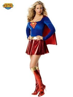 Women's Sexy Superman Supergirl Costume