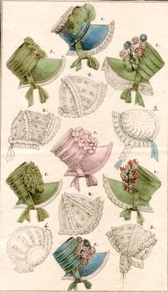Trimming Regency Bonnets  Links to other interesting historical dress items