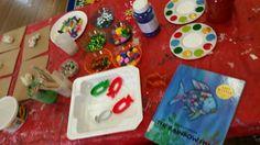 "Book inspired Art ""Rainbow Fish"" clay works!"