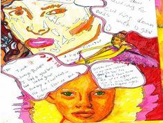 """""""ballerina sketch"""" - pen & marker, in Sketchbook"""