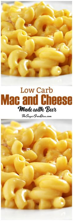 It is possible to make low carb macaroni and cheese. This delicious recipe is for low carb mac and cheese made with beer! Mac Cheese Recipes, Mac And Cheese, Pasta Recipes, Healthy Eating Recipes, Low Carb Recipes, Diabetic Meals, Bariatric Recipes, Healthy Meals, Healthy Food