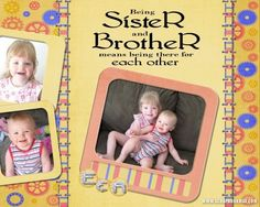 brother and sister scrapbook page | ... Sister and Brother - Digital Scrapbooking Layout Gallery - Scrapbook