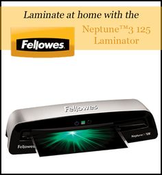 Back To School #Giveaway: Fellowes Neptune™3 125 Laminator from @5minutesformom