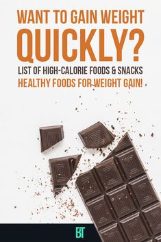 List of High-Calorie Foods and Snacks for Men and Women to Gain Weight Quickly. How skinny people can gain weight by eating healthy food that will also help to build muscles. Gain Weight Men, Tips To Gain Weight, Weight Gain Meals, Healthy Weight Gain, Healthy High Calorie Foods, High Calorie Snacks, Calorie Dense Foods, Eating Healthy, Healthy Food