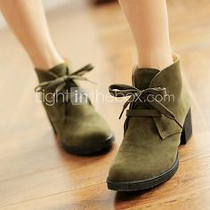Women's Shoes Round Toe Chunky Heel Ankle Boots More Colors available - USD $ 29.99