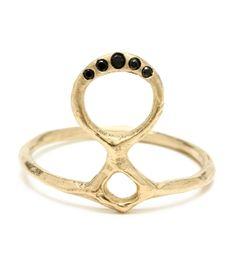 odette totem ring in 14K + black diamonds // catbird