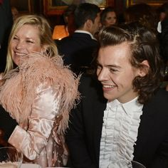 Pin for Later: Kate Moss Still Has the Power to Make Guys Like Harry Styles All Giggly
