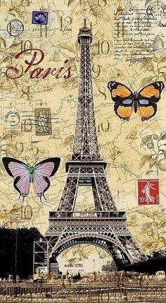 paris - Page 26 Paris Kunst, Paris Art, Vintage Paris, Vintage Pink, Cute Wallpaper Backgrounds, Pretty Wallpapers, Tour Eiffel, Scrapbooking Paris, Vintage Postcards